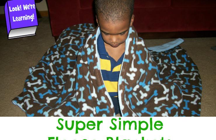 Happily Homemade: Super Simple Fleece Blankets