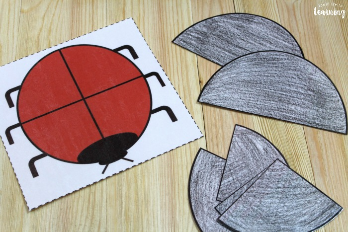 Hands-On Ladybug Fraction Activity