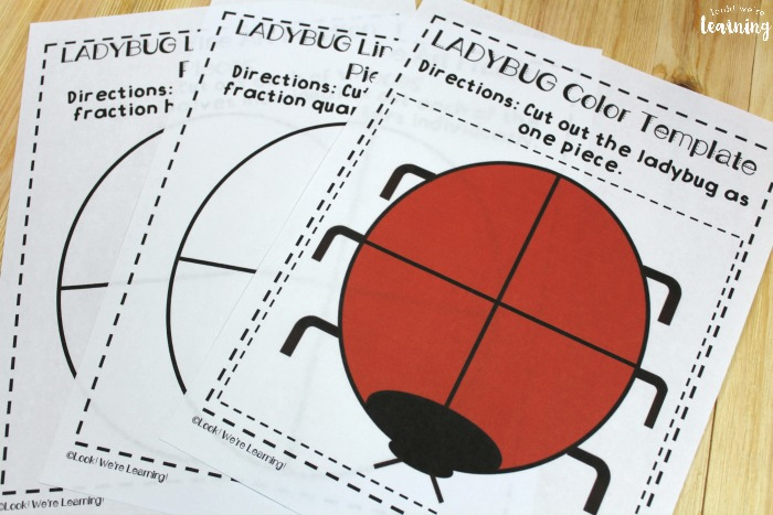Ladybug Fraction Printable Activity