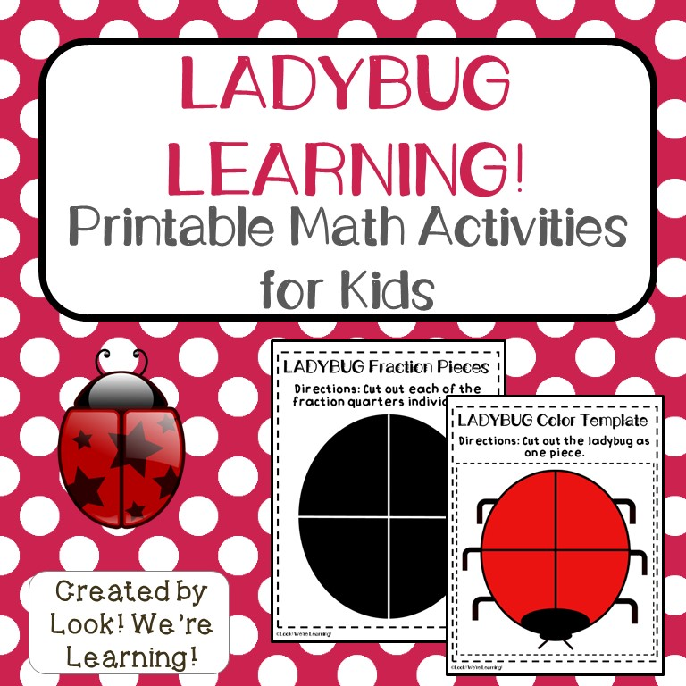 Ladybug Learning Math Activities