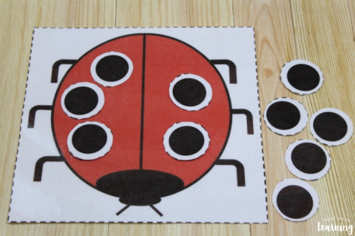 Printable Ladybug Counting Activity