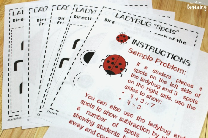 Printable Ladybug Math Lesson for Kids