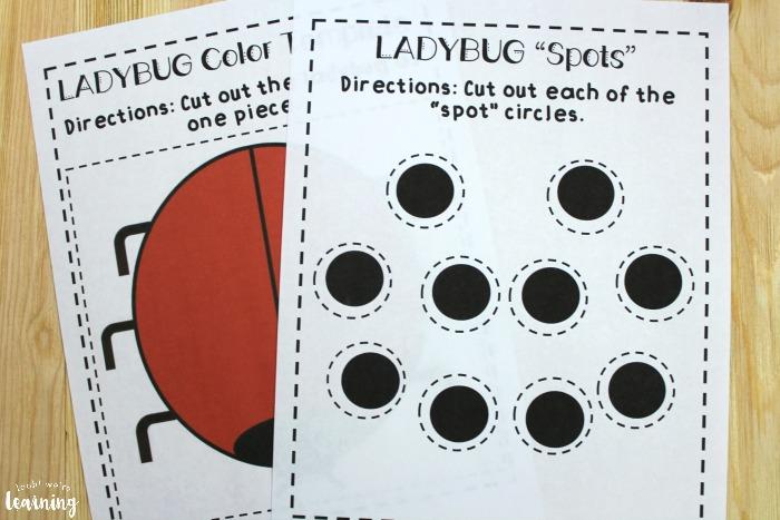 Printable Ladybug Math Lesson