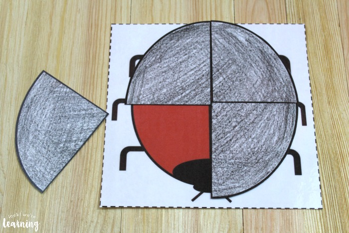Simple Ladybug Fractions Activity