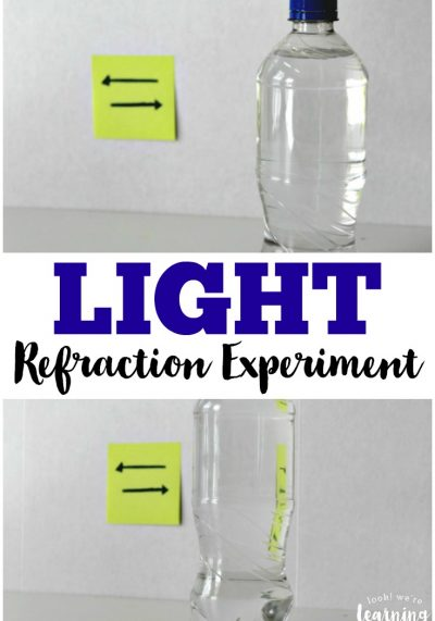 Study the properties of light with this simple light refraction experiment!