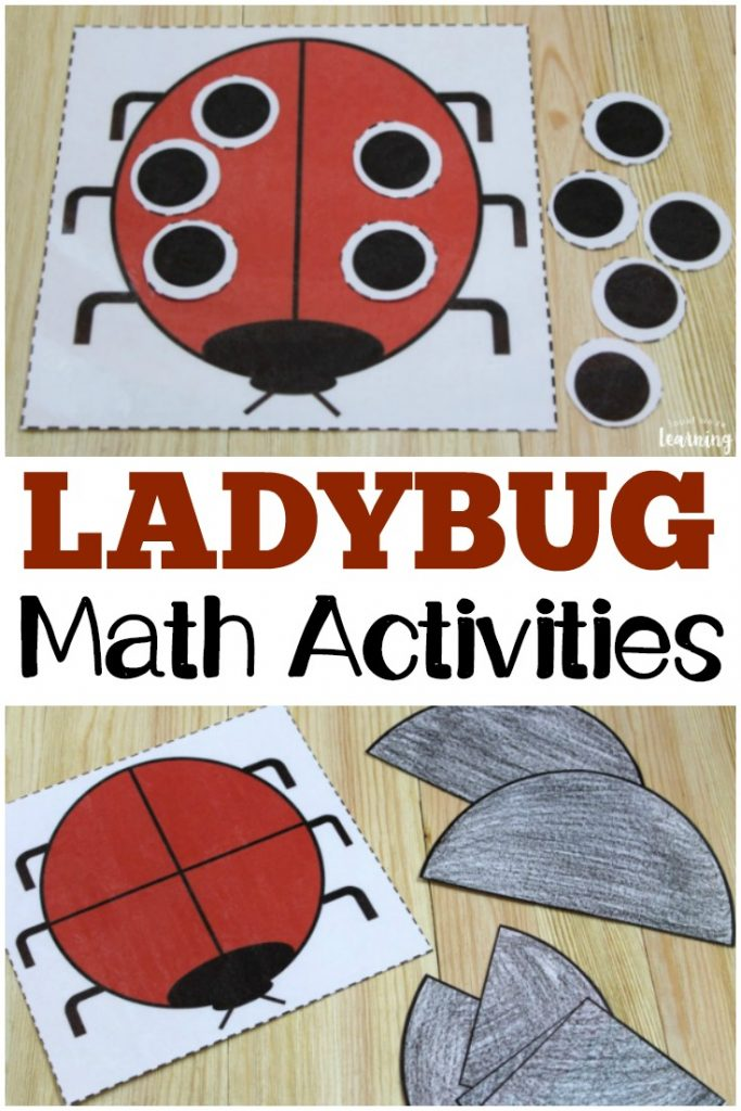 These printable ladybug math activities are perfect for sharing with the kids this spring!