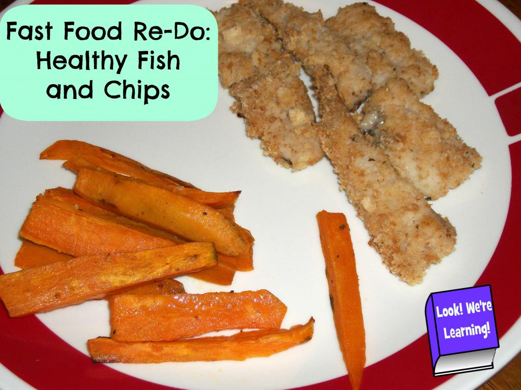 Fast food redo fish and chips look we 39 re learning for Fast food fish