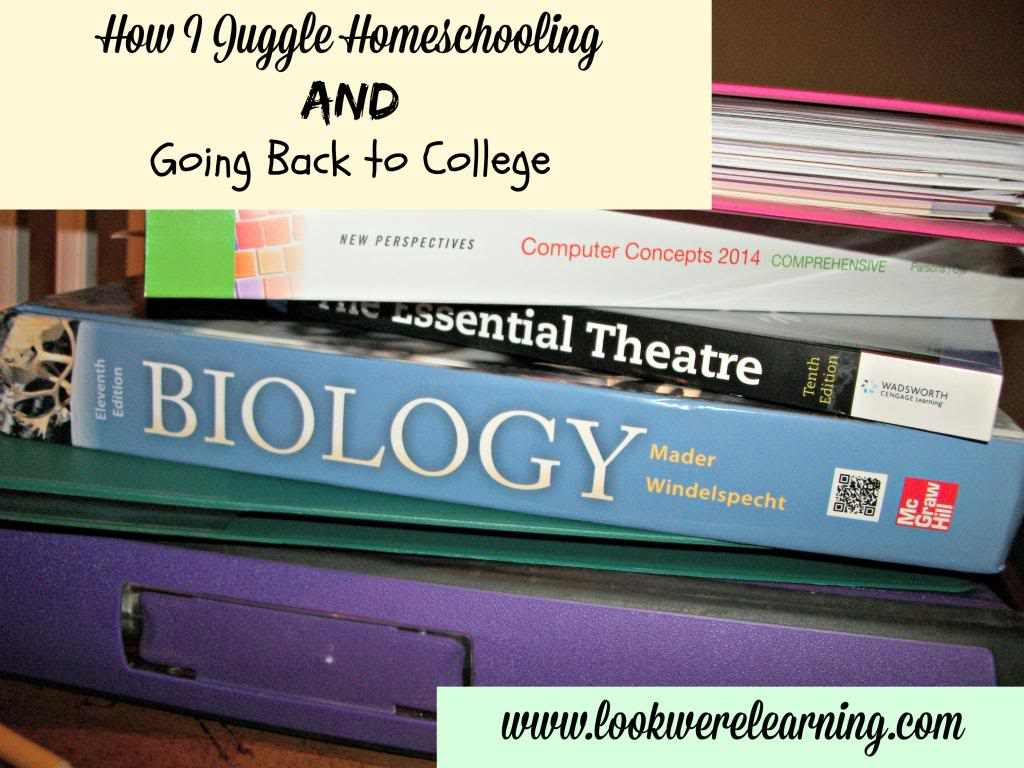 How I Juggle Going to College and Homeschooling My Kids - Look! We're Learning!