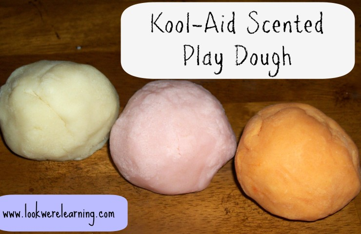 12 Months of Sensory Dough: Kool Aid Scented Play Dough