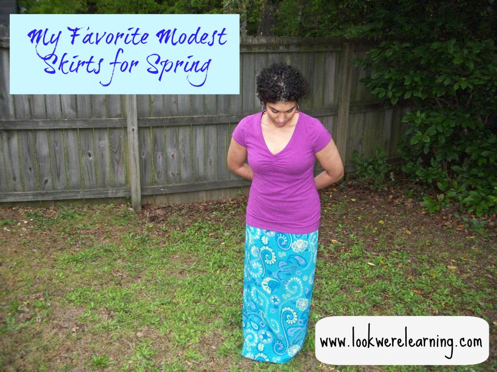 My Favorite Modest Skirts for Spring - Look! We're Learning!
