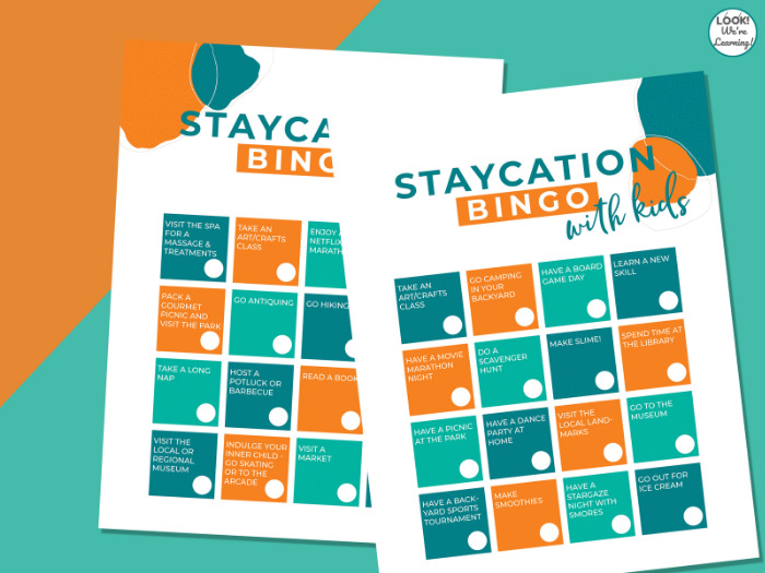 Family Staycation Bingo Challenge