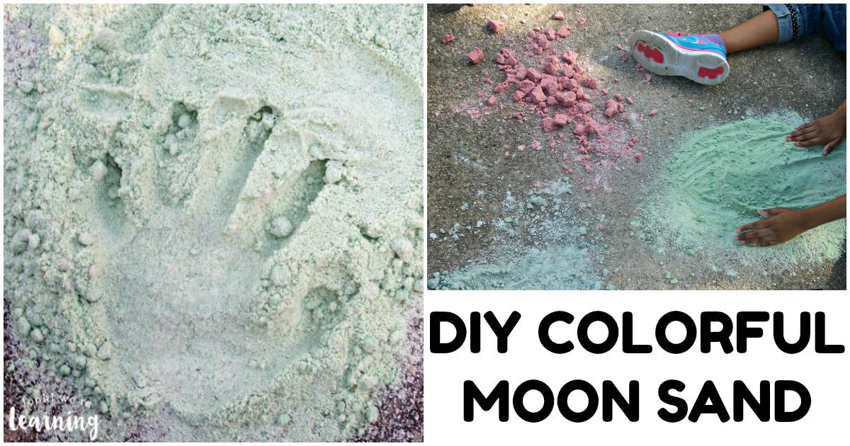 Fun DIY Colored Moon Sand Recipe for Kids