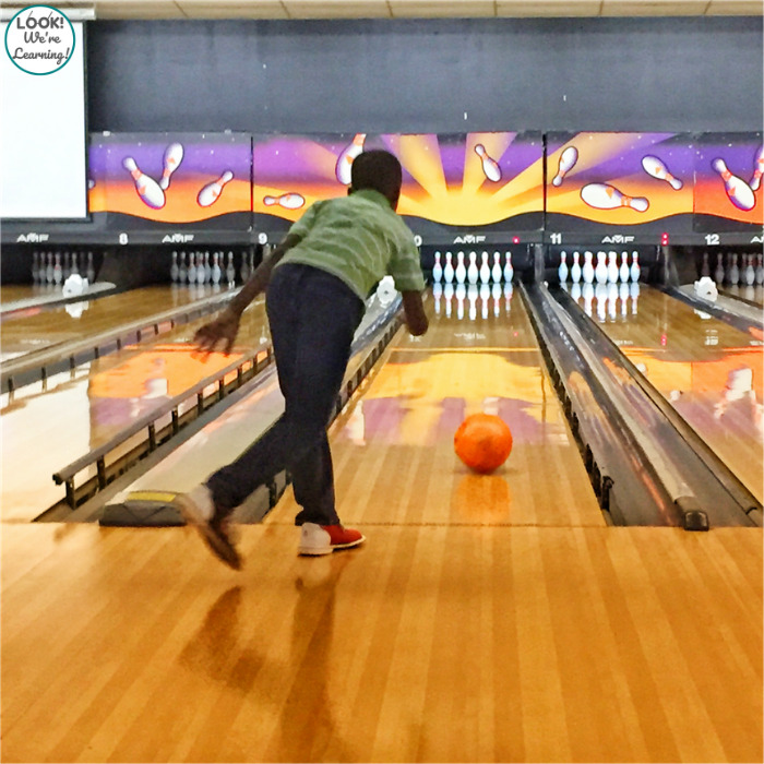 Going Bowling on a Family Staycation