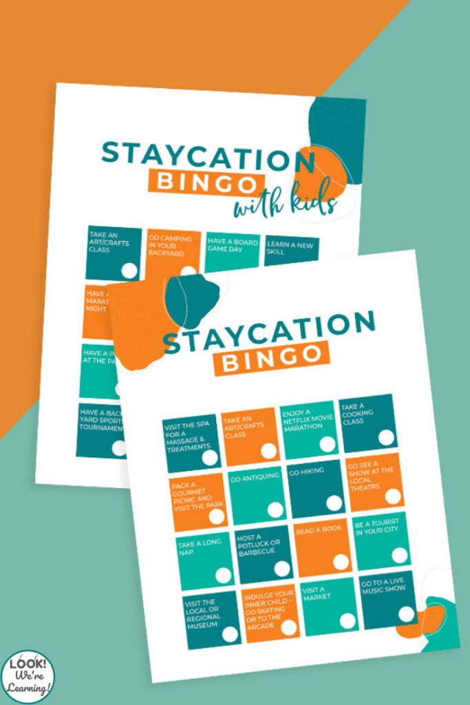 Printable Family Staycation Bingo