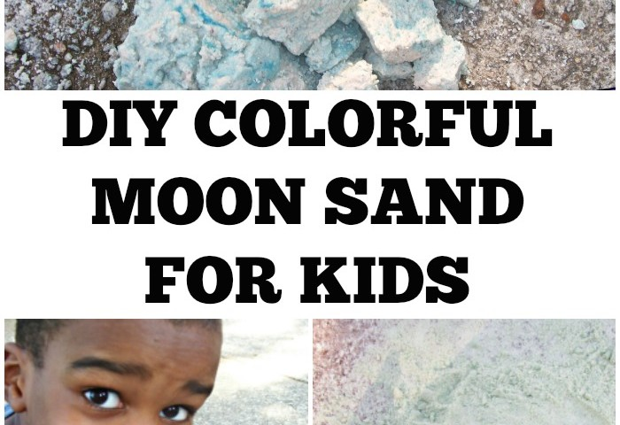 DIY Colored Moon Sand Recipe