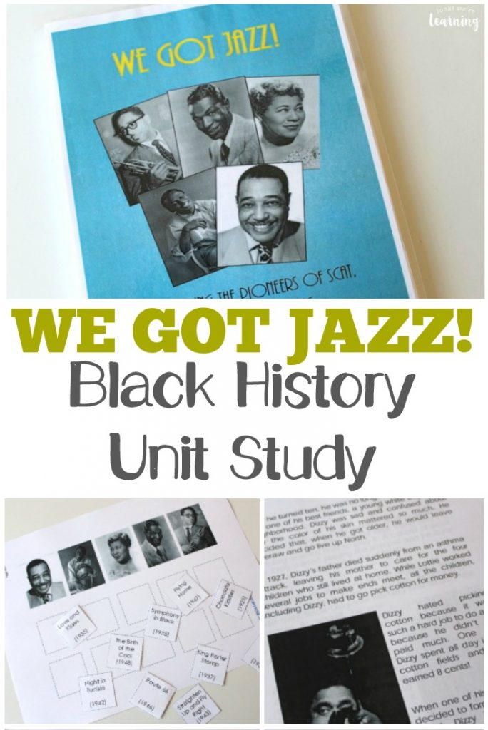 This jazz history unit is a perfect black history unit study for music class!
