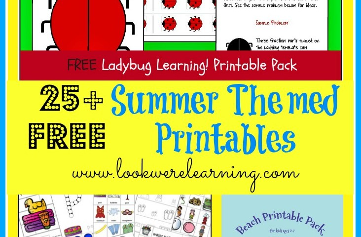 25+ Free Summer Themed Printables and a Cash Giveaway!