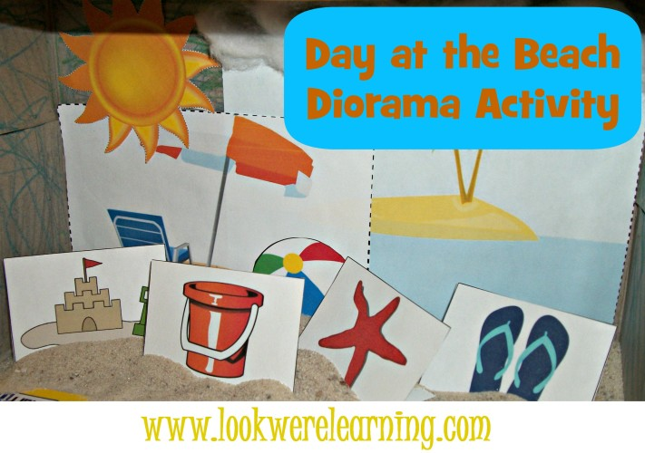 Printable Beach Shoebox Diorama - Look! We're Learning!