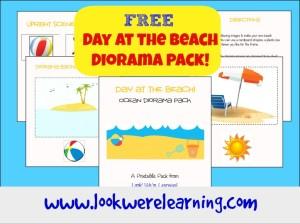 Free Beach Shoebox Diorama Printable Pack - Look! We're Learning!