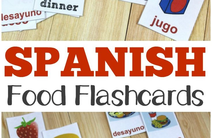 Printable Spanish Flashcards: Free Spanish Food Flashcards