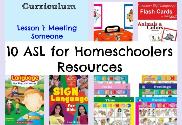 10+ American Sign Language for Homeschoolers Resources