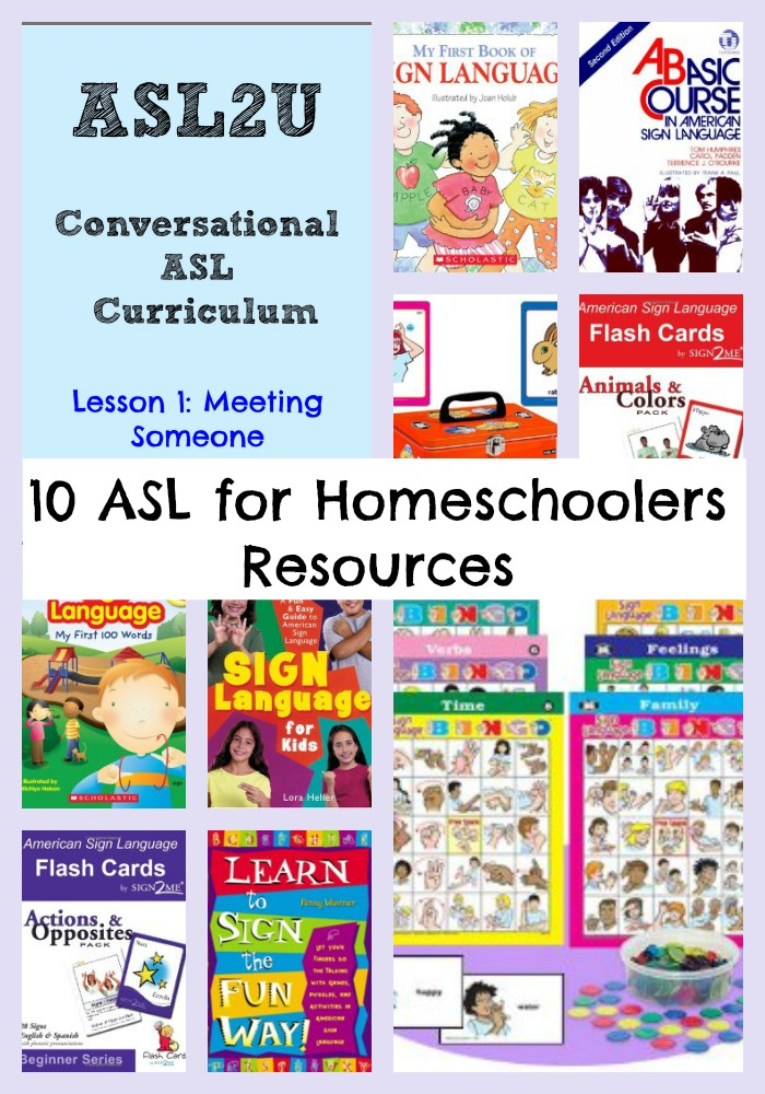 10 American Sign Language for Homeschoolers Resources