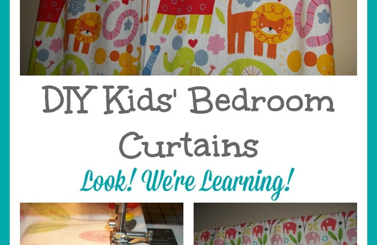 DIY Bedroom Curtains for Kids' Rooms