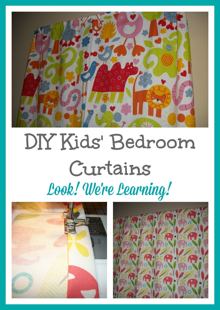 DIY Bedroom Curtains for Kids - Look! We're Learning!