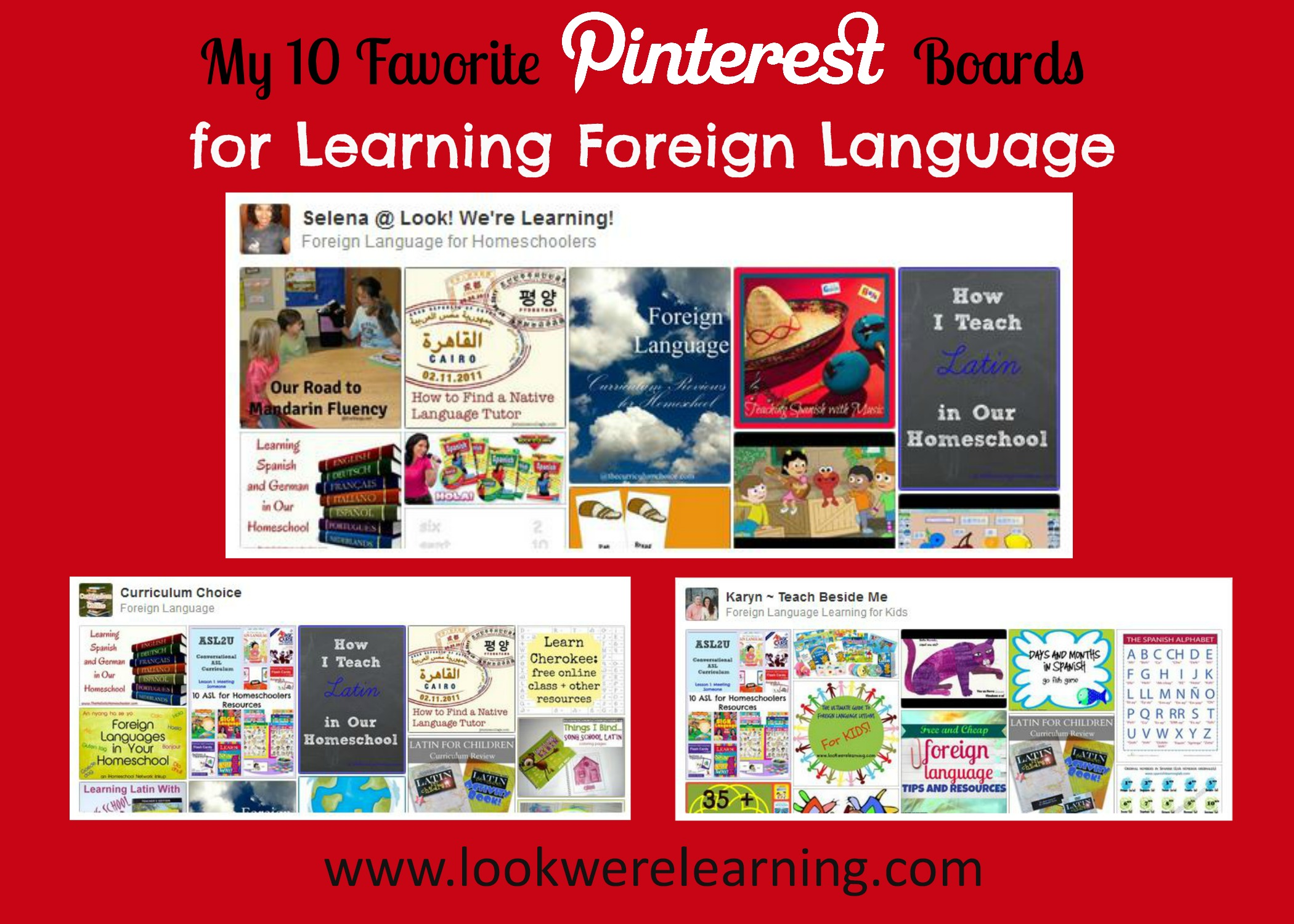 10 Must Follow Pinterest Boards for Learning Foreign Language - Look! We're Learning!