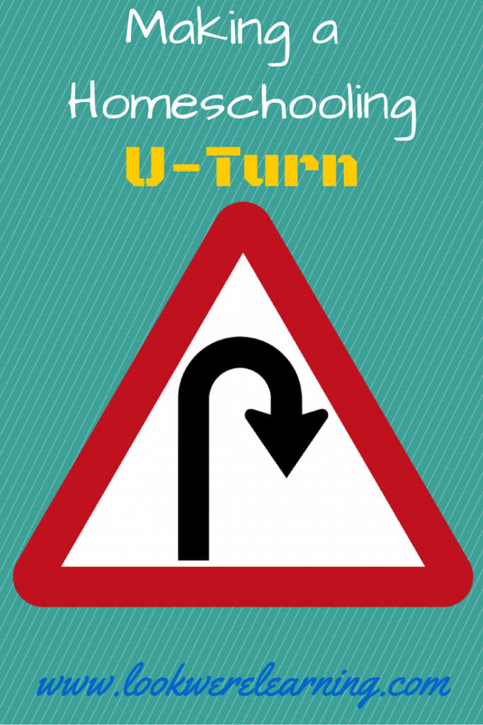 Making a Homeschooling U-Turn: Look! We're Learning!