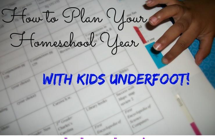 Homeschool Planning with Kids Underfoot