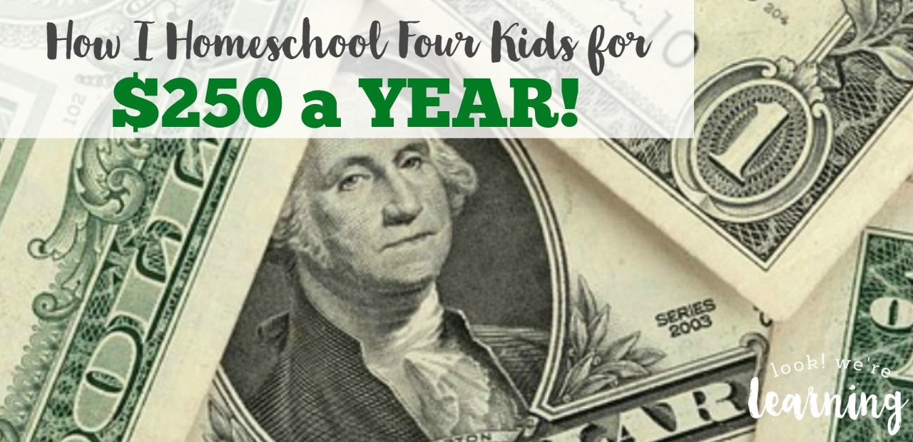 How I Homeschool Four Kids for 250 Dollars a Year