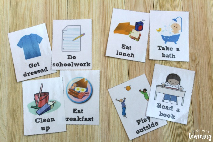 Free Daily Routine Cards for Kids - Look! We\u0027re Learning!