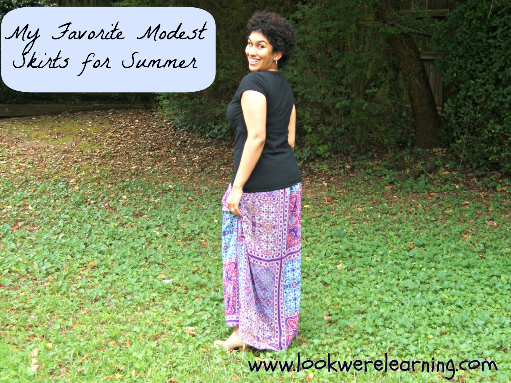 Modest Summer Skirts - Look! We're Learning!