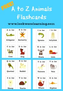 Free Printable Flashcards: Alphabet Animals - Look! We're Learning!