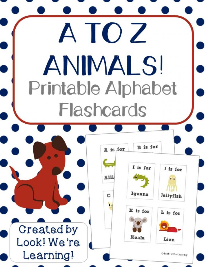 Free Printable Flashcards Alphabet Animals - Look! We're