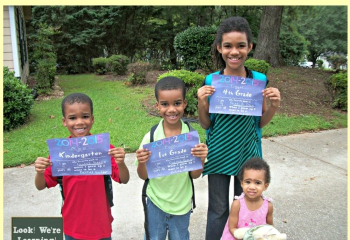 2014-15 First Day of School Photos