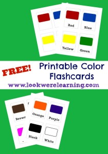 Free Printable Flashcards: Colors - Look! We're Learning!
