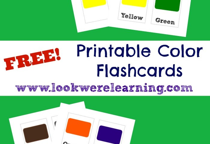 Free Printable Flashcards: Colors