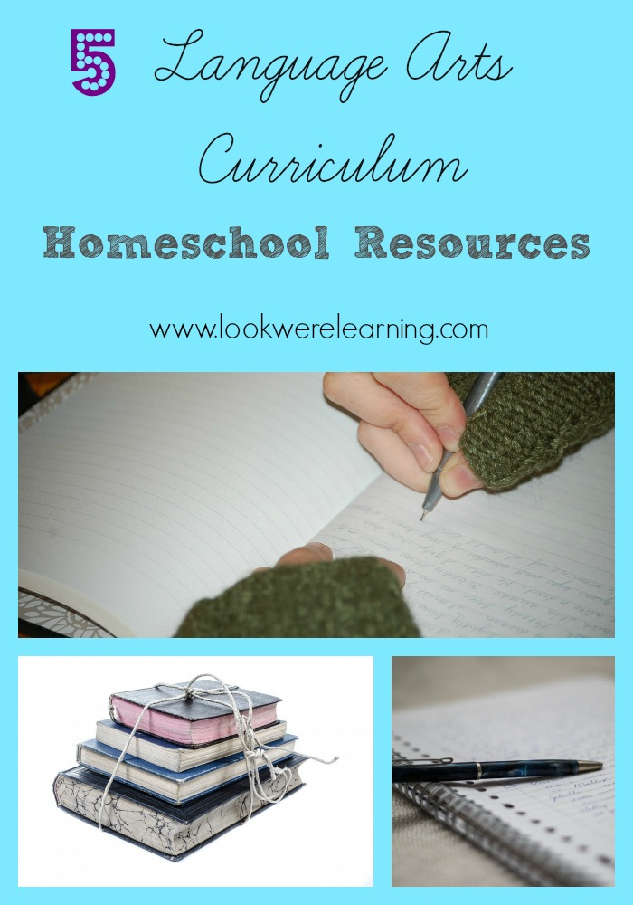 Five Homeschool Language Arts Curriculum Resources - Look! We're Learning!