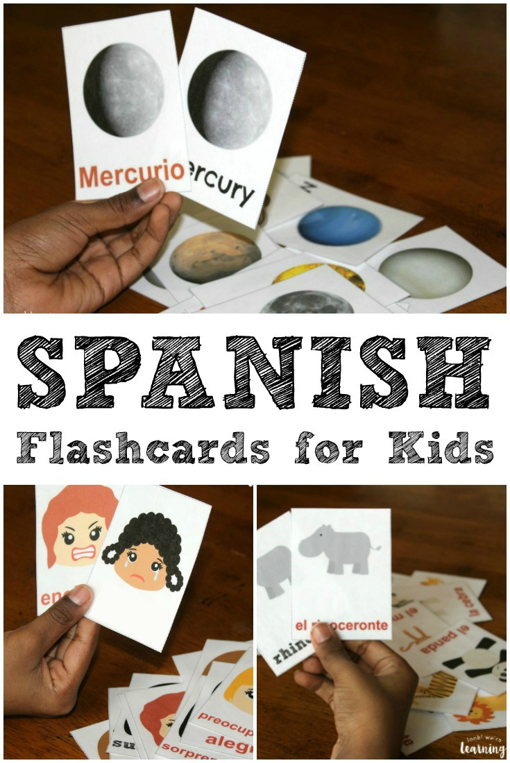Learn espanol with these printable Spanish flashcards for kids!