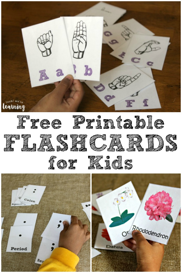 Add these free printable flashcards to your daily lesson plans to make learning even more fun!