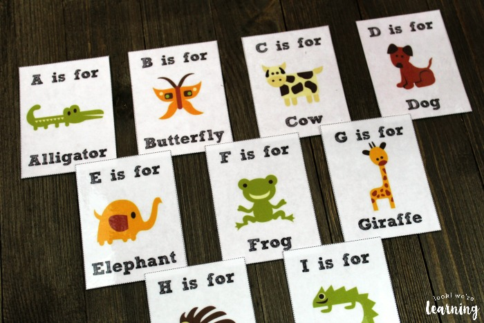 Printable Alphabet Animal Flashcards for Kids