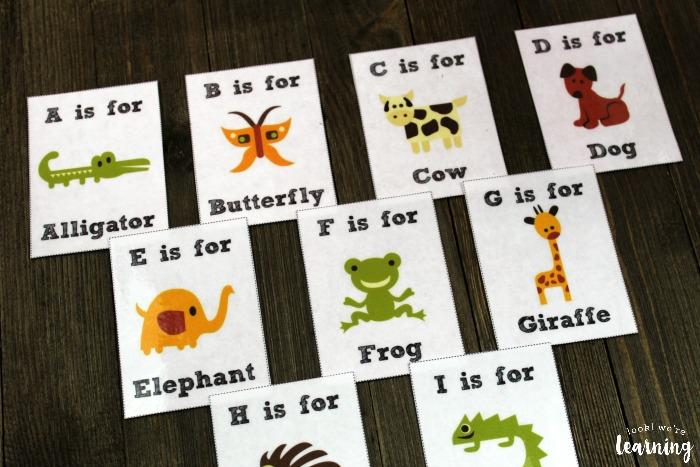 Printable Alphabet Animal Flashcards for Kids