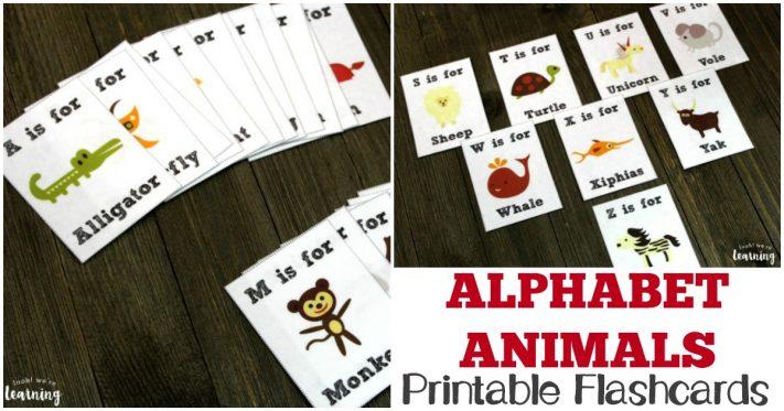 Printable Alphabet Animal Flashcards for Kids!