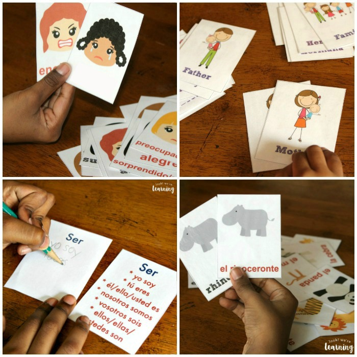Printable Spanish Flashcards for Kids