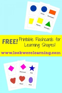 Free Printable Flashcards: Shapes - Look! We're Learning!
