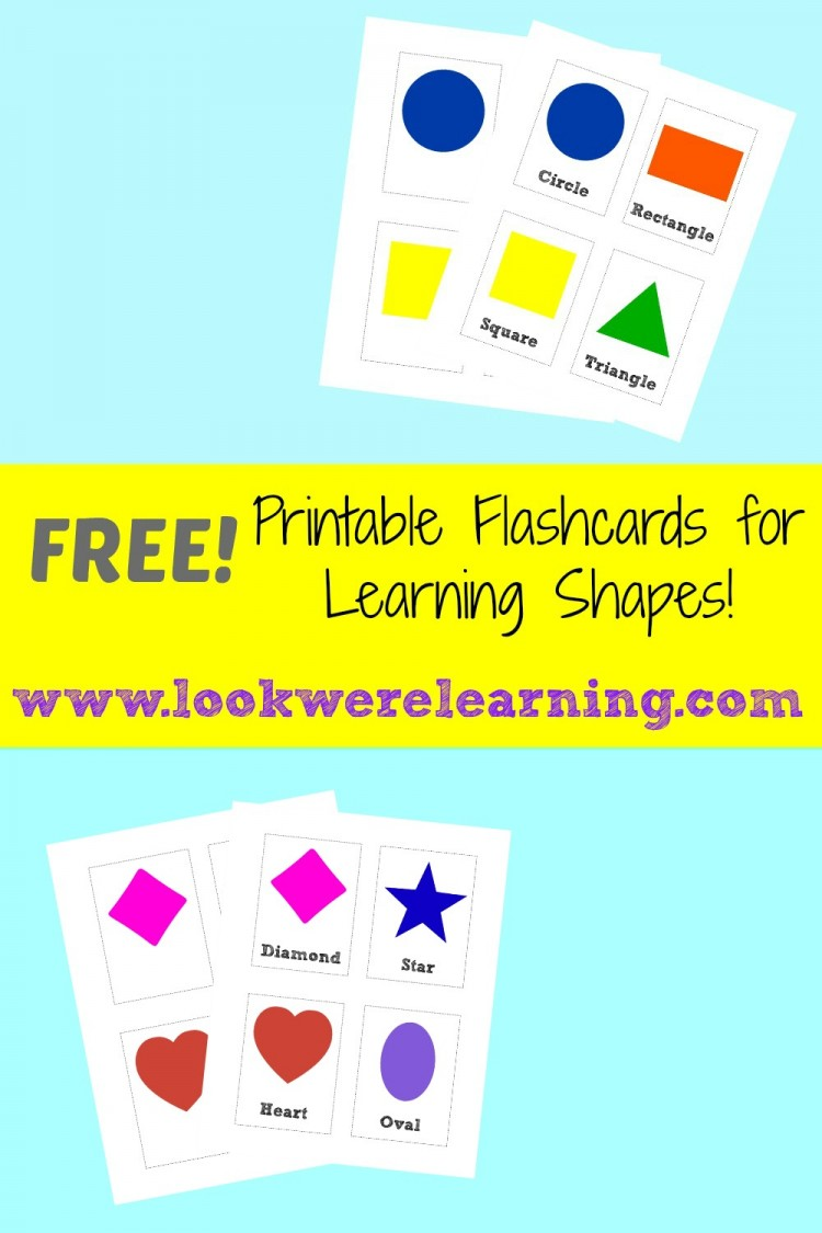 worksheet Shape Flash Cards free printable flashcards shape look were learning shapes learning