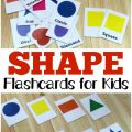 These free printable shape flashcards make it easy to help little ones learn their shapes!