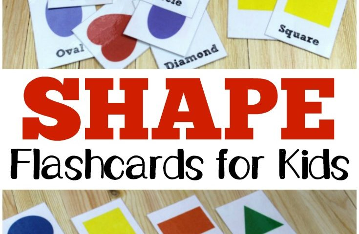 Free Printable Flashcards: Shape Flashcards